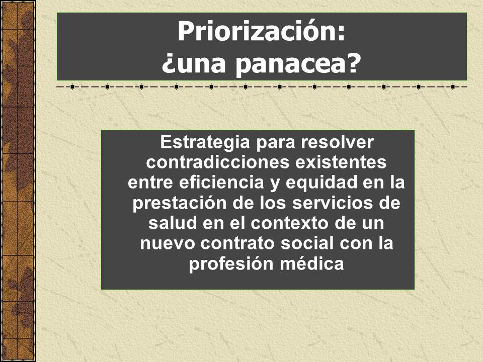 Priorización: ¿una panacea