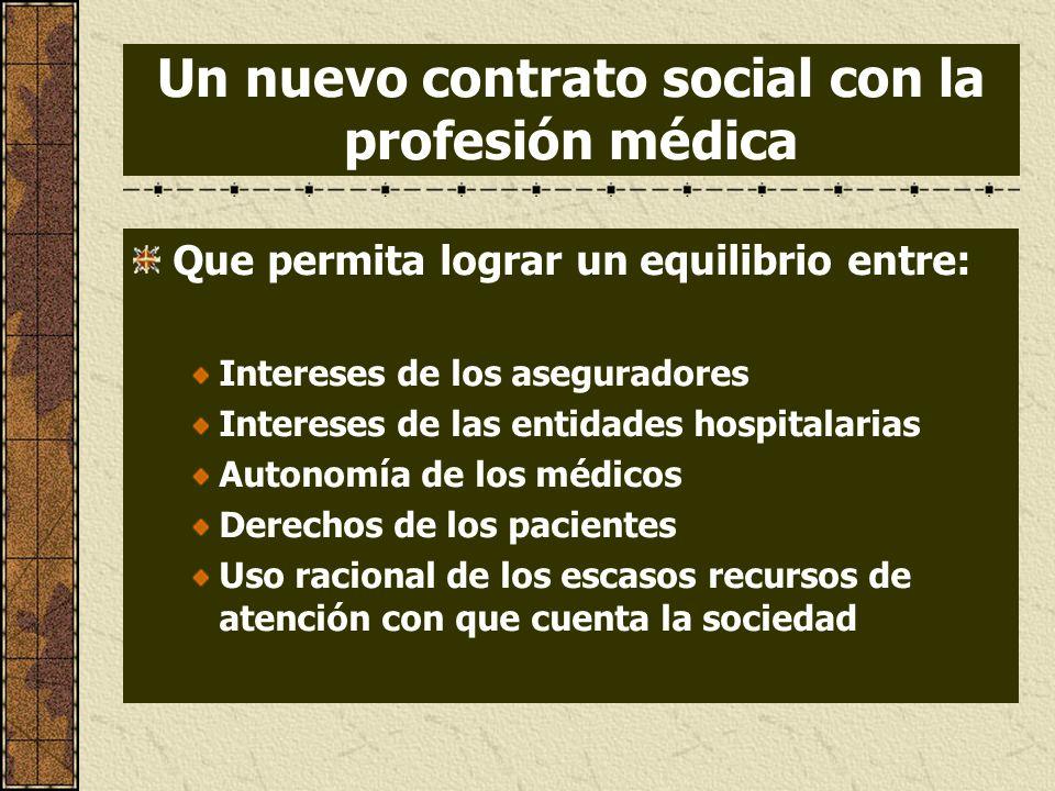 Un nuevo contrato social con la profesión médica