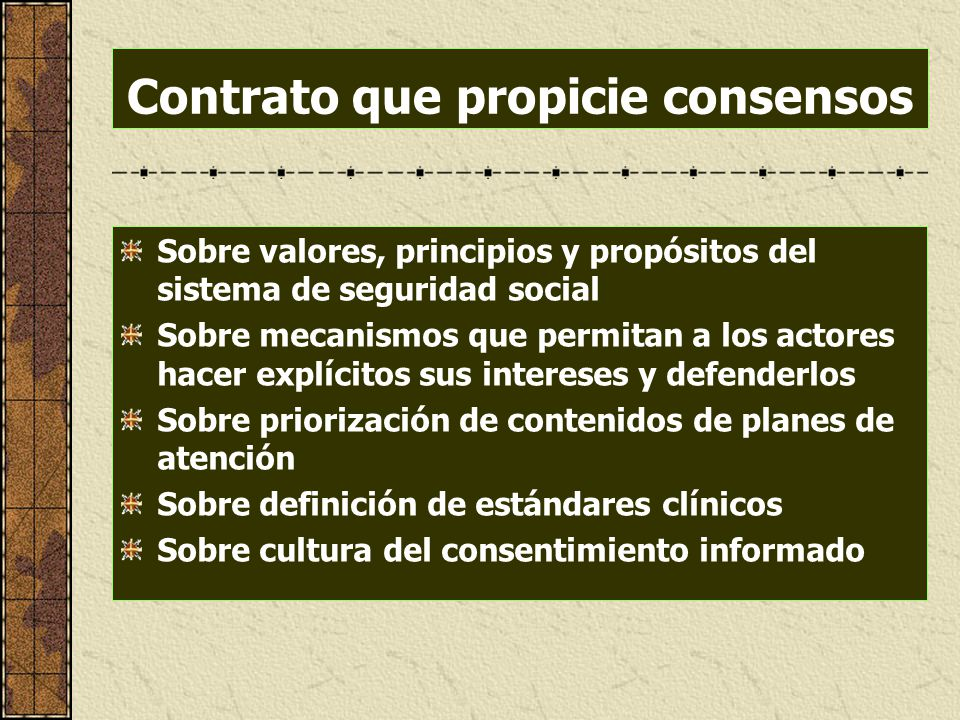 Contrato que propicie consensos