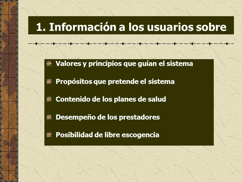 1. Información a los usuarios sobre