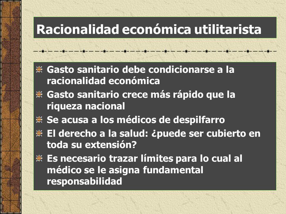 Racionalidad económica utilitarista