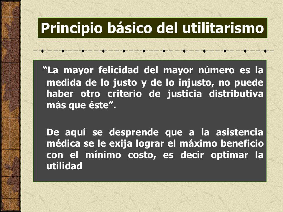 Principio básico del utilitarismo