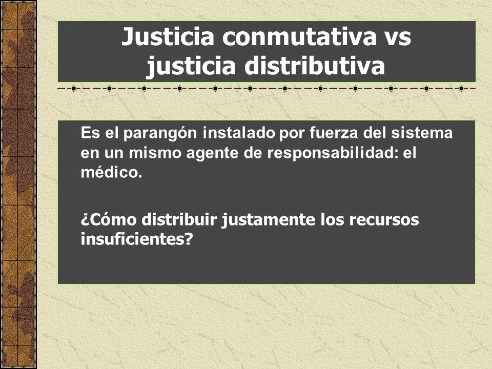 Justicia conmutativa vs justicia distributiva