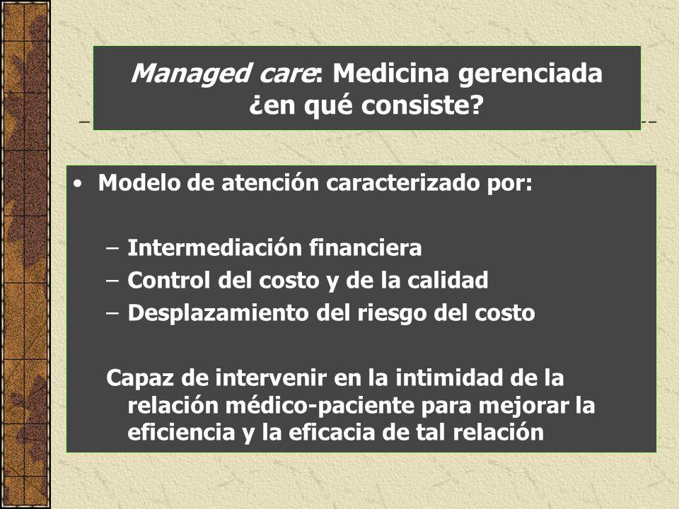 Managed care: Medicina gerenciada ¿en qué consiste