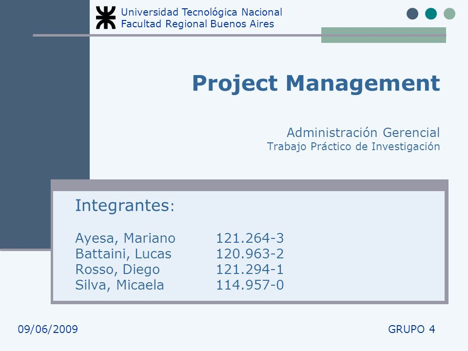 Integrantes: Ayesa, Mariano 121.264-3 Battaini, Lucas 120.963-2