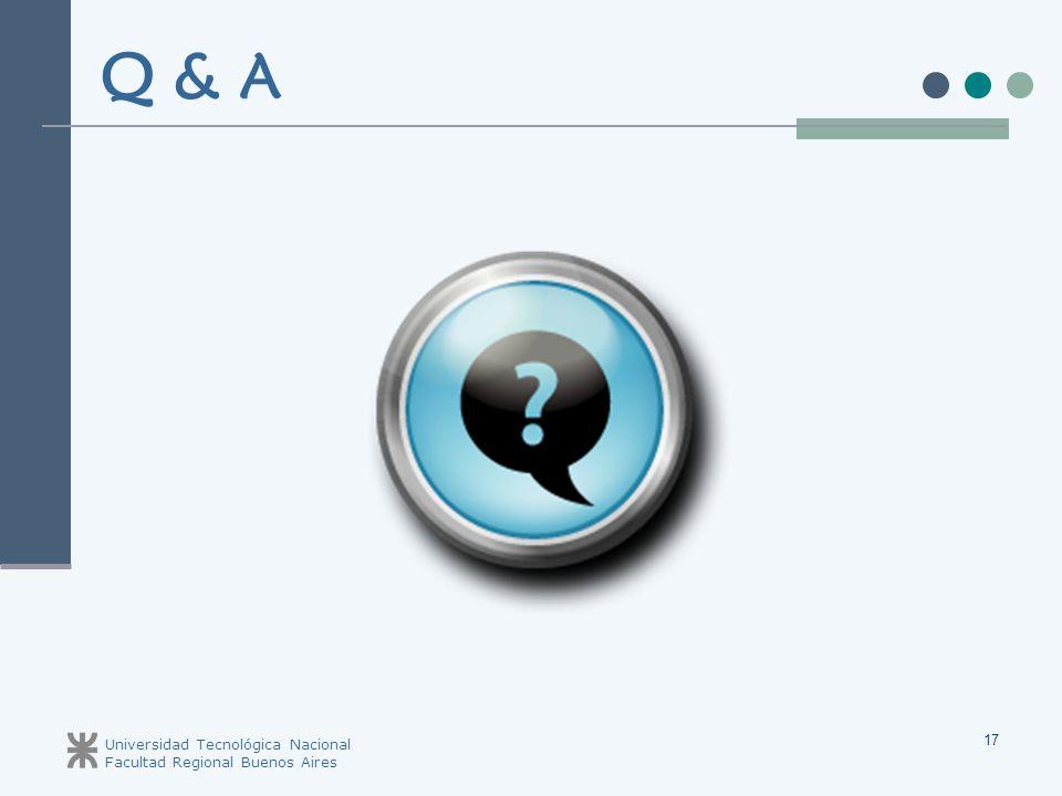 Q & A Universidad Tecnológica Nacional Facultad Regional Buenos Aires