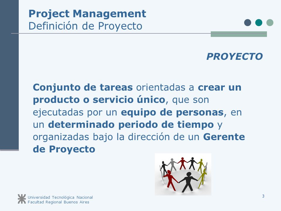 Project Management Definición de Proyecto