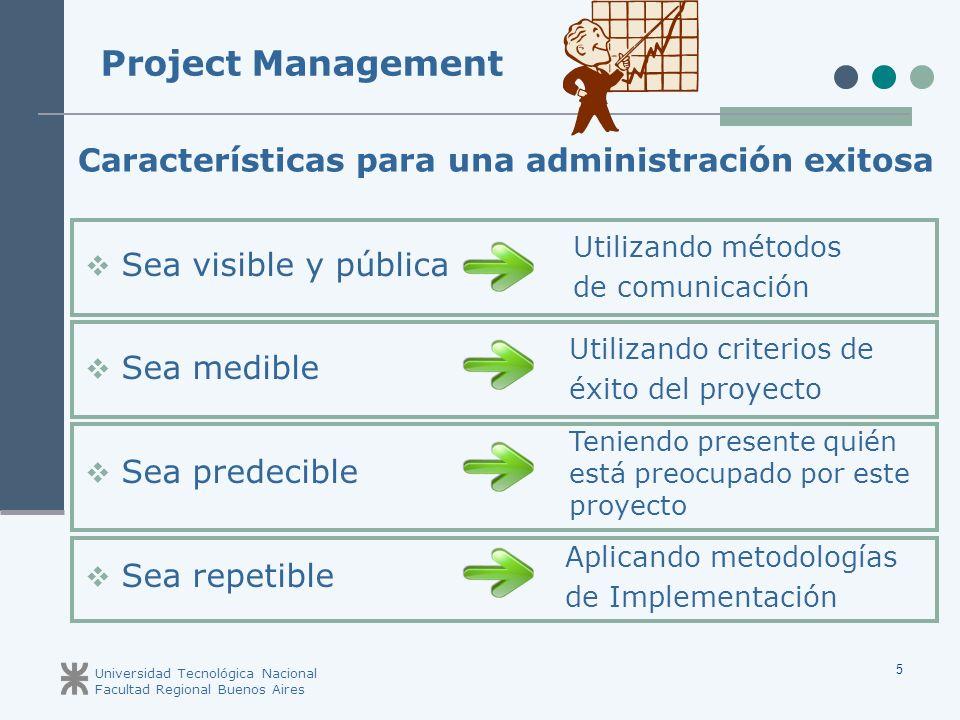 Project Management Características para una administración exitosa