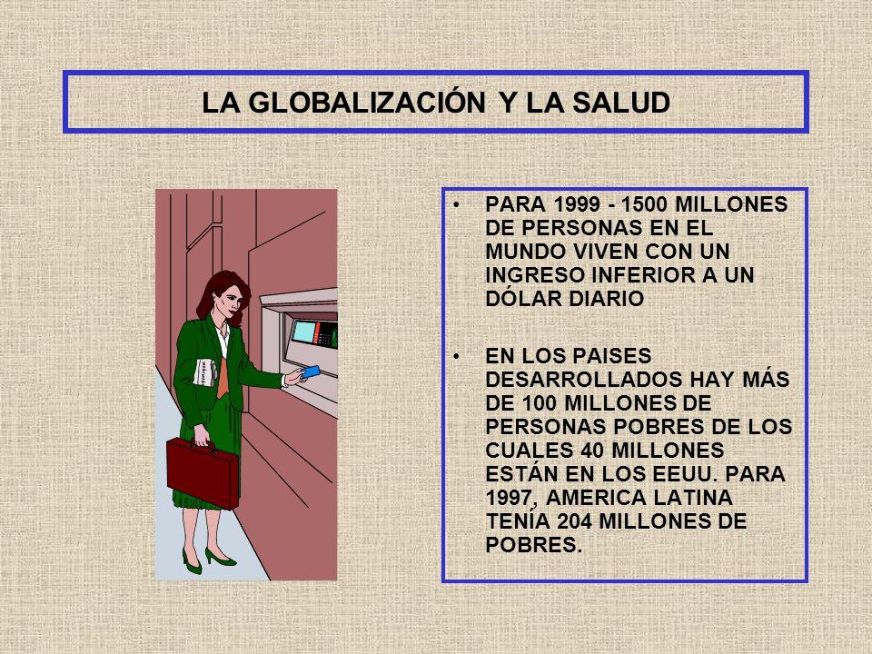 LA GLOBALIZACIÓN Y LA SALUD