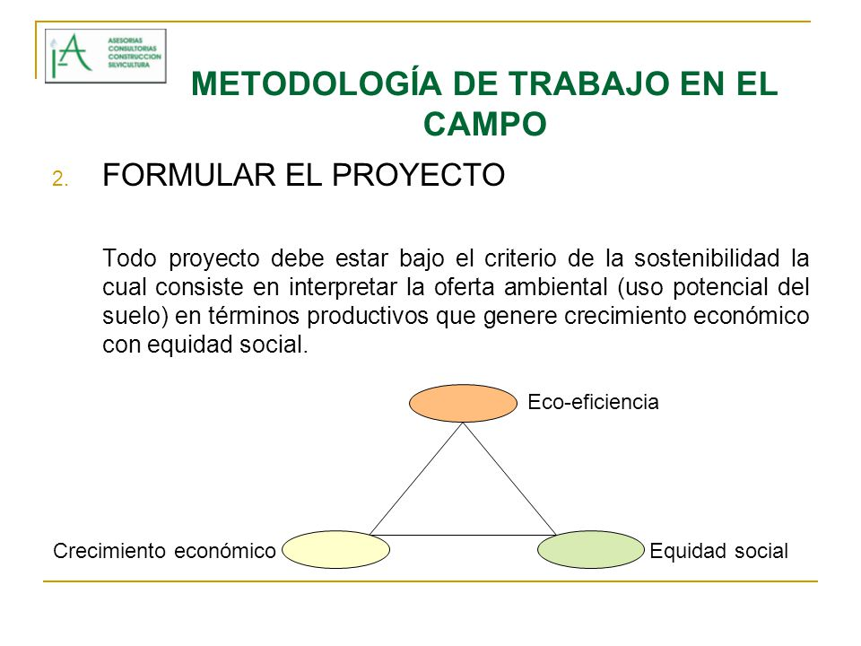 METODOLOGÍA DE TRABAJO EN EL CAMPO