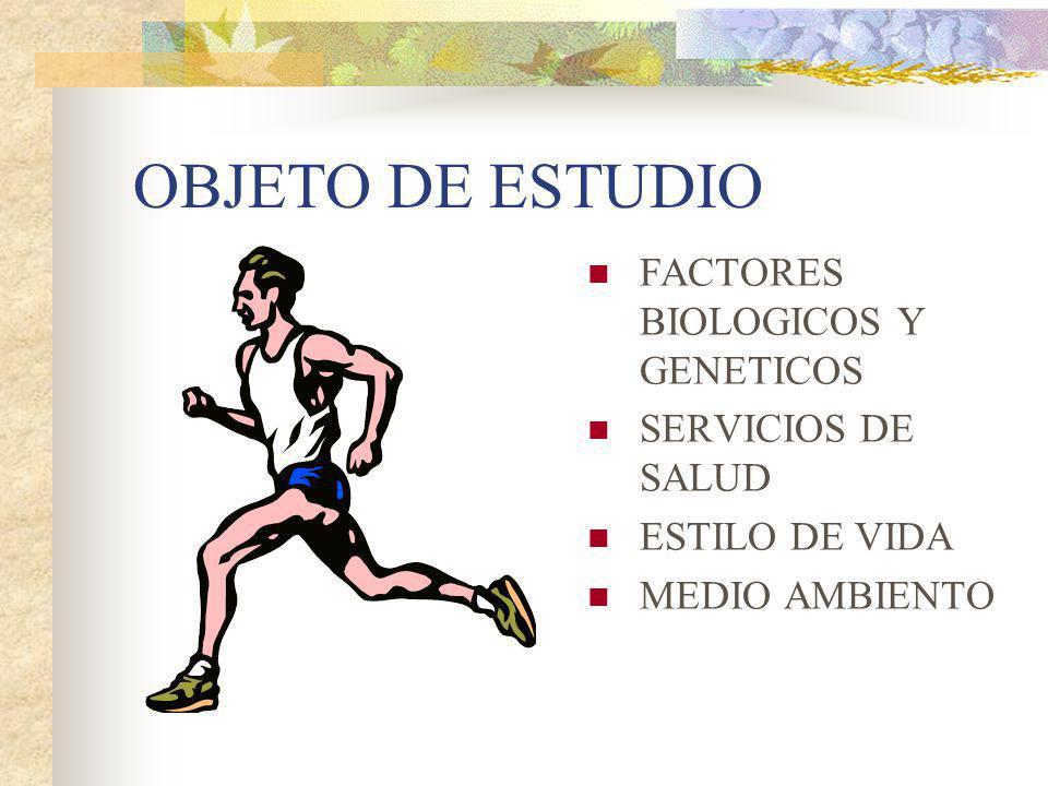 OBJETO DE ESTUDIO FACTORES BIOLOGICOS Y GENETICOS SERVICIOS DE SALUD