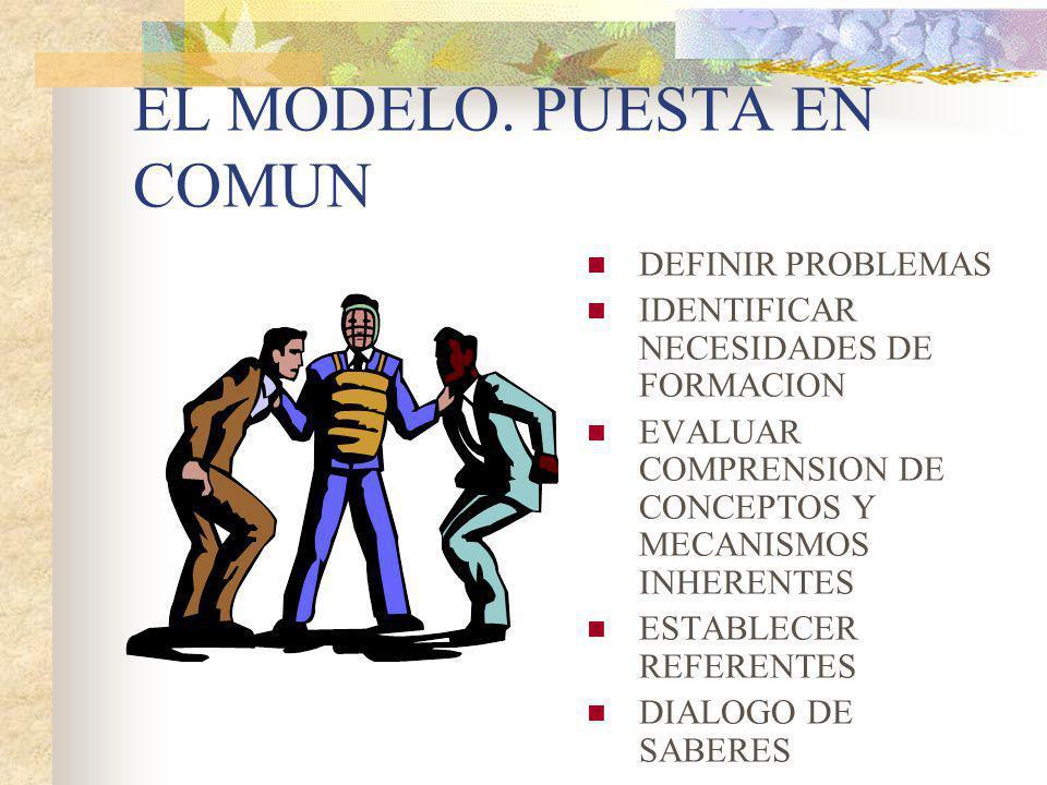 EL MODELO. PUESTA EN COMUN