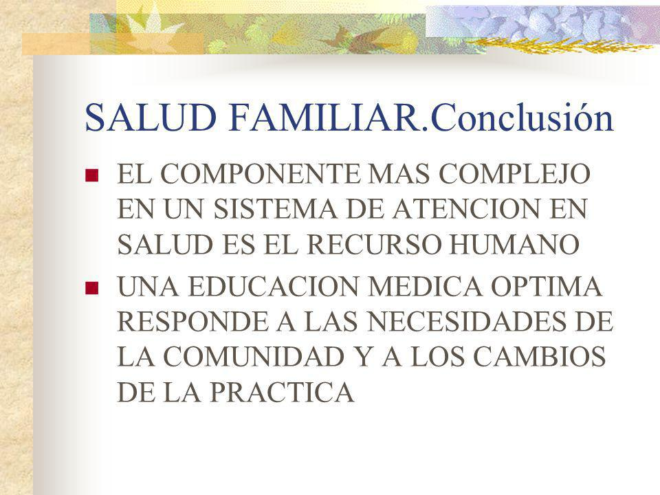 SALUD FAMILIAR.Conclusión
