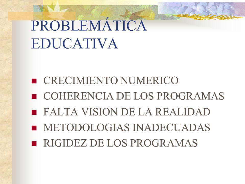 PROBLEMÁTICA EDUCATIVA