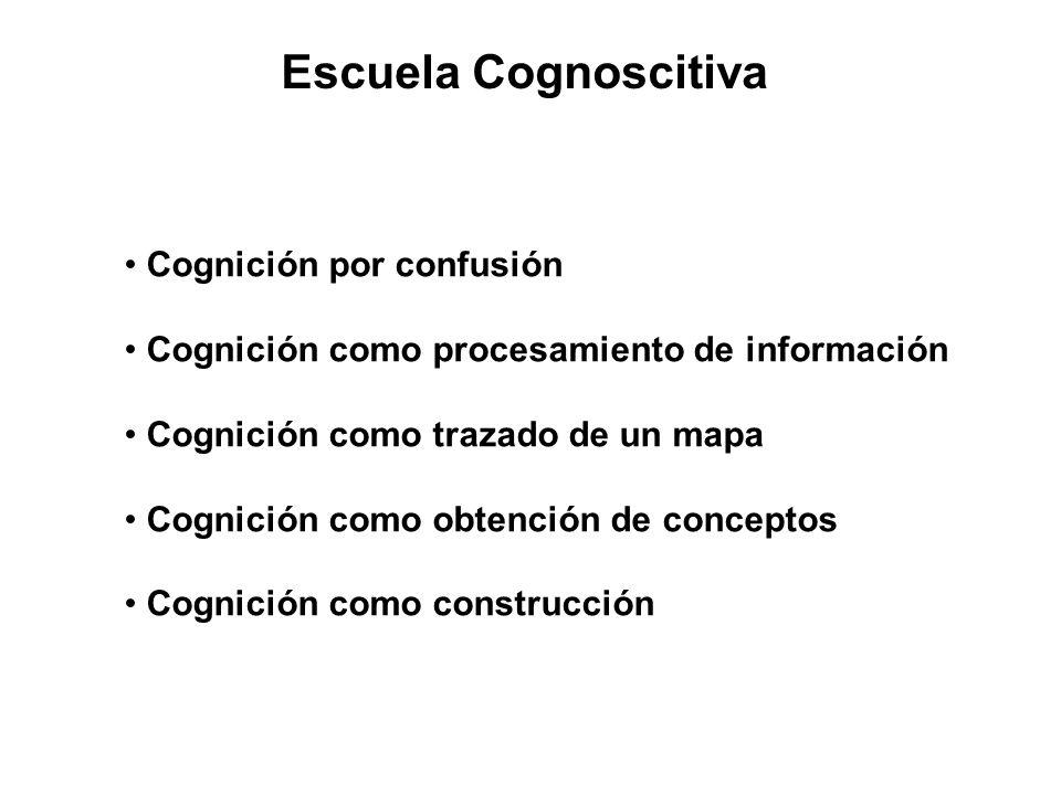 Escuela Cognoscitiva Cognición por confusión