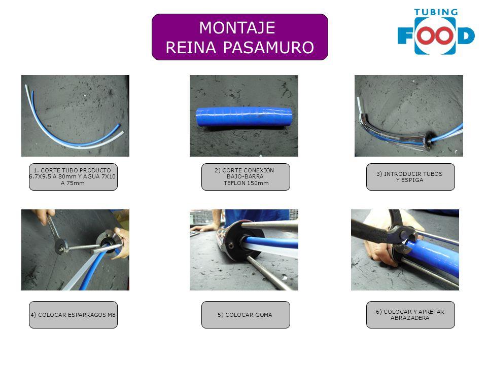 MONTAJE REINA PASAMURO 1. CORTE TUBO PRODUCTO