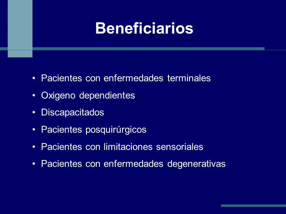 Beneficiarios Pacientes con enfermedades terminales