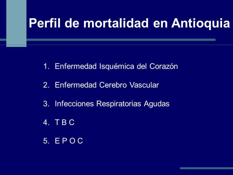 Perfil de mortalidad en Antioquia