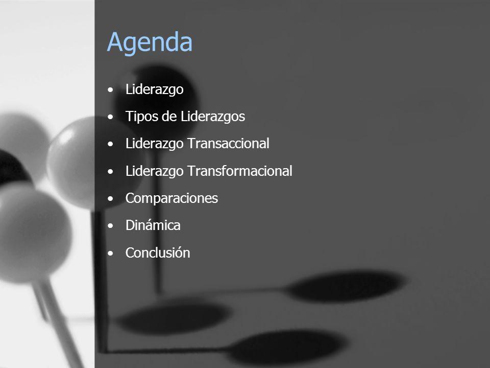 Agenda Liderazgo Tipos de Liderazgos Liderazgo Transaccional