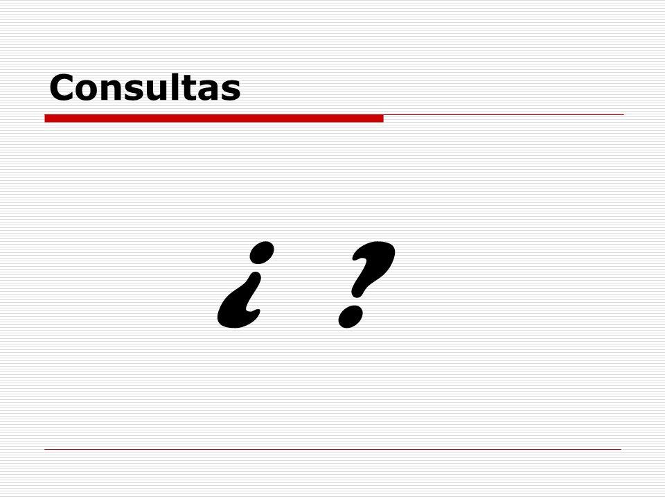 Consultas ¿