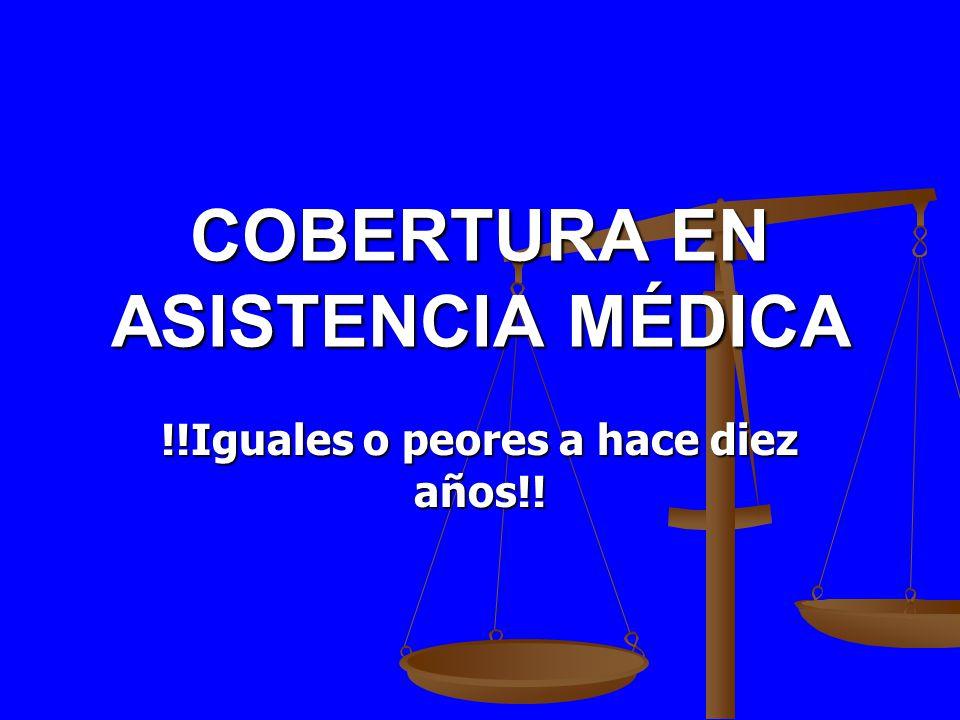 COBERTURA EN ASISTENCIA MÉDICA