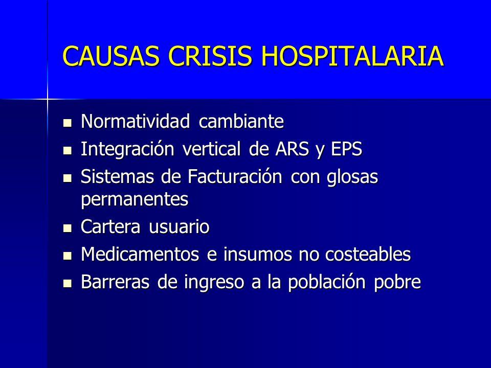 CAUSAS CRISIS HOSPITALARIA