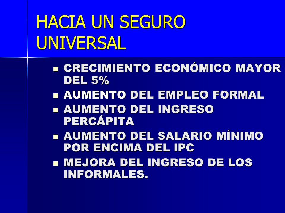 HACIA UN SEGURO UNIVERSAL