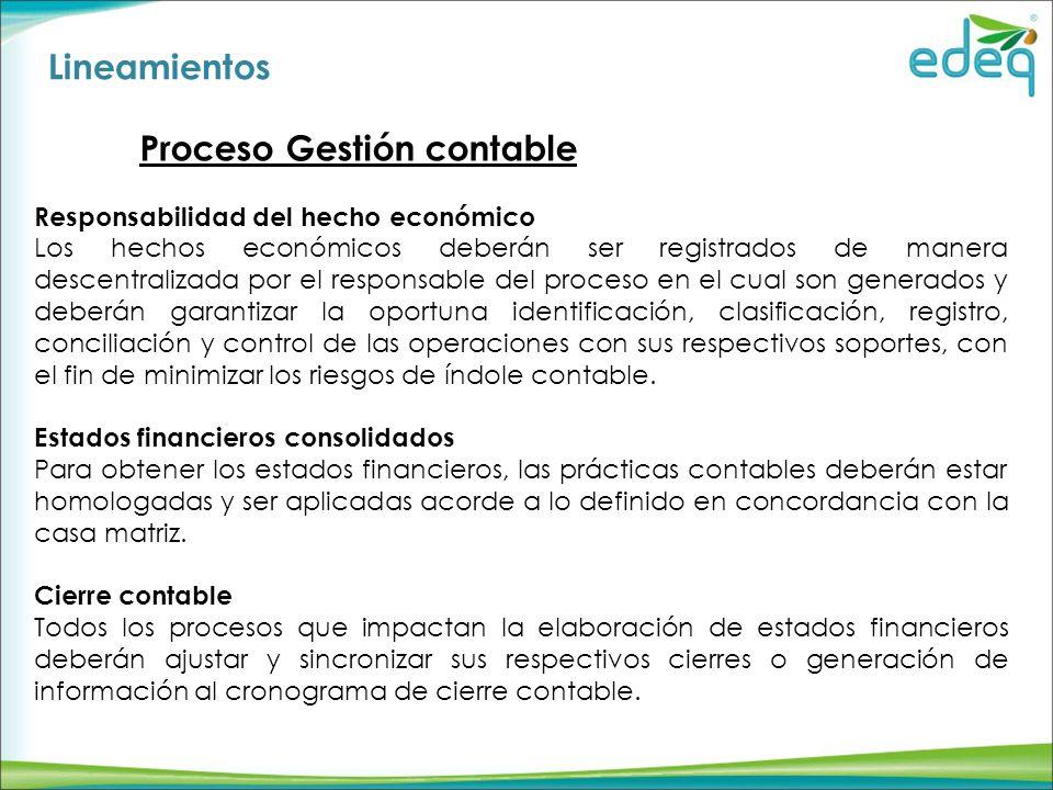 Proceso Gestión contable