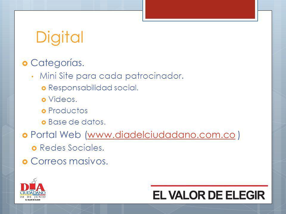 Digital Categorías. Portal Web (www.diadelciudadano.com.co )