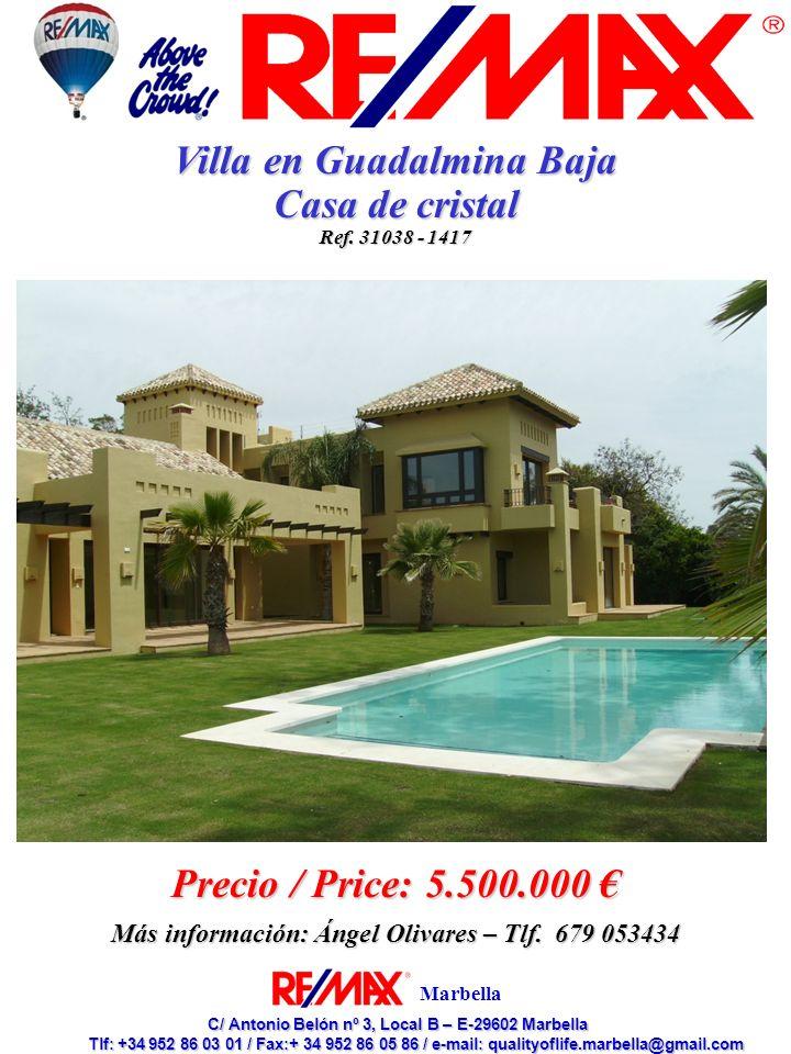 Villa en Guadalmina Baja Casa de cristal Precio / Price: 5.500.000 €