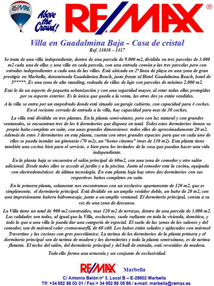 Villa en Guadalmina Baja - Casa de cristal