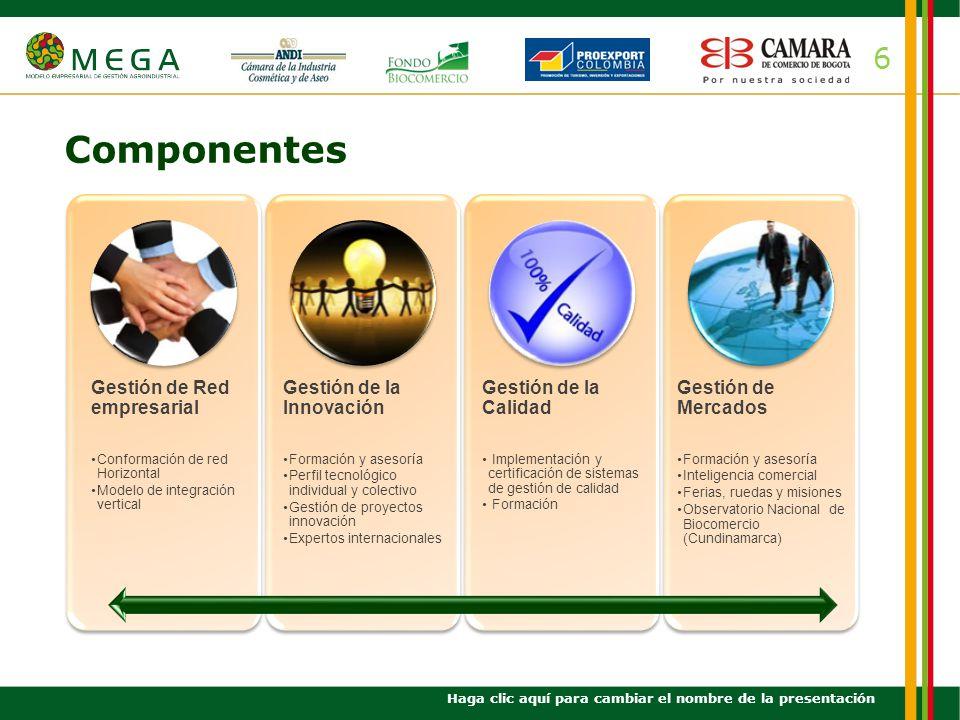 Componentes 6 Gestión de Red empresarial Gestión de la Innovación