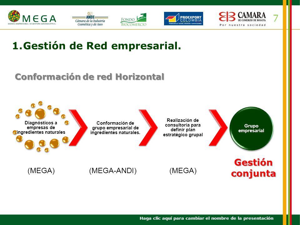 1. Gestión de Red empresarial.