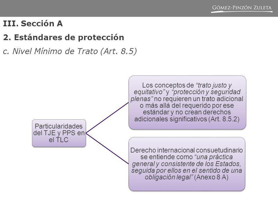 Particularidades del TJE y PPS en el TLC