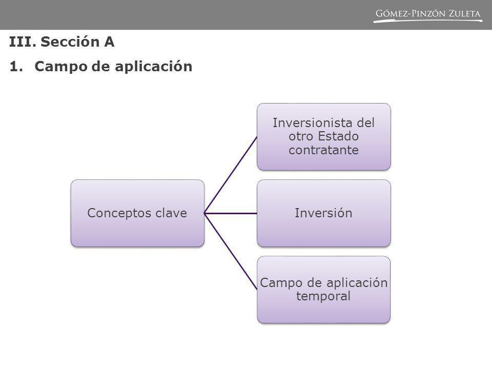 III. Sección A Campo de aplicación Conceptos clave