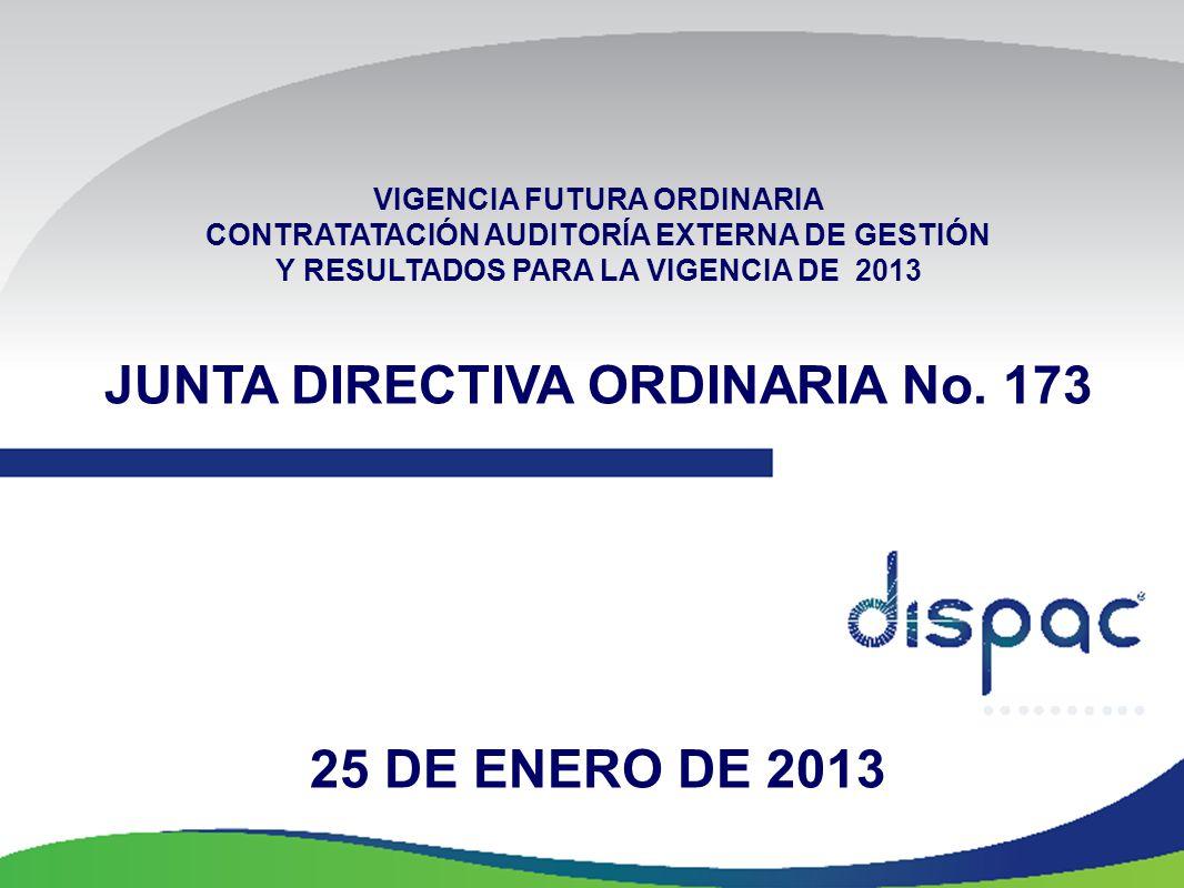 JUNTA DIRECTIVA ORDINARIA No. 173 25 DE ENERO DE 2013
