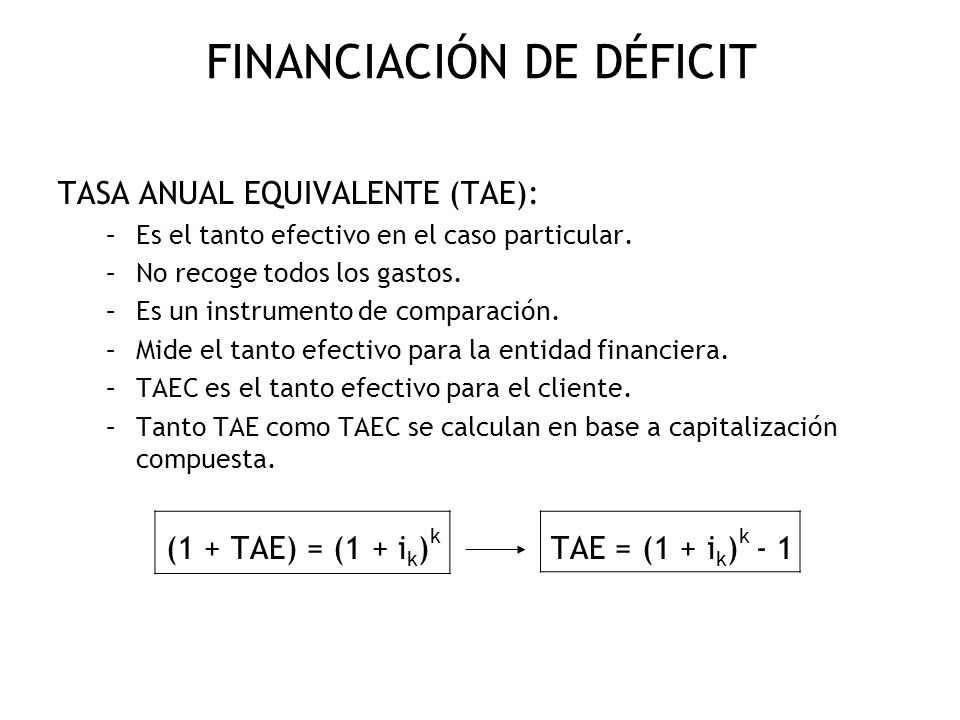 FINANCIACIÓN DE DÉFICIT