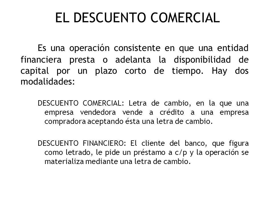 EL DESCUENTO COMERCIAL