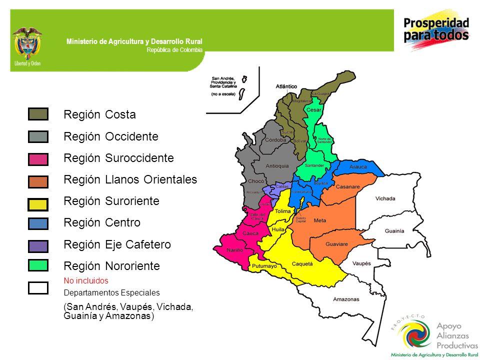 Región Llanos Orientales Región Suroriente Región Centro