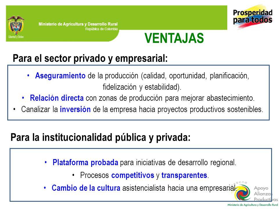 VENTAJAS Para el sector privado y empresarial: