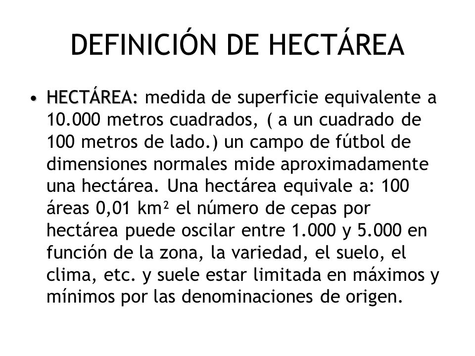 DEFINICIÓN DE HECTÁREA