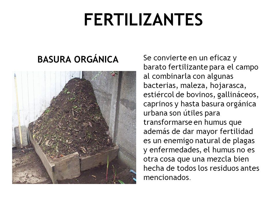 FERTILIZANTES BASURA ORGÁNICA