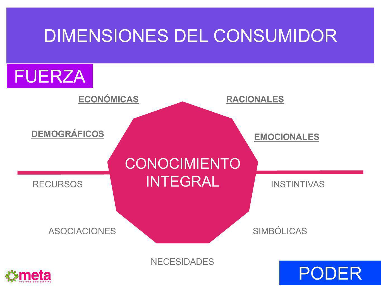 DIMENSIONES DEL CONSUMIDOR