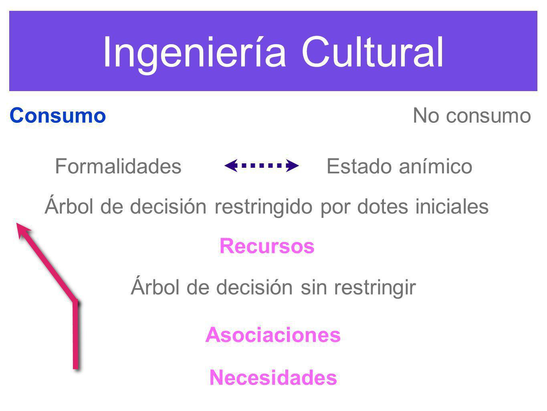 Ingeniería Cultural Consumo No consumo Formalidades Estado anímico