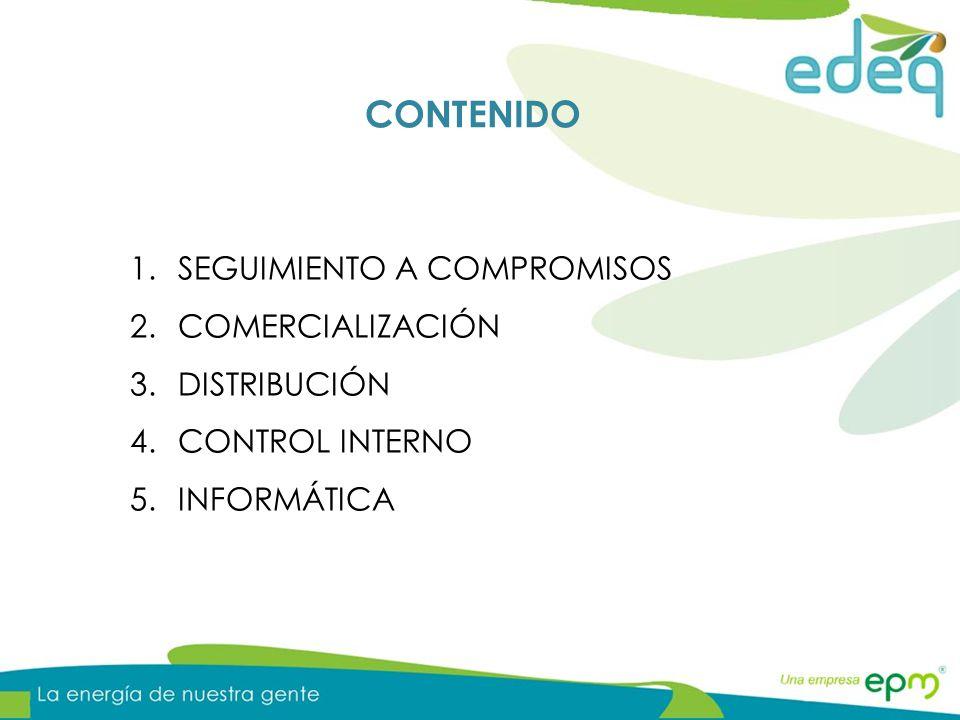 CONTENIDO SEGUIMIENTO A COMPROMISOS COMERCIALIZACIÓN DISTRIBUCIÓN