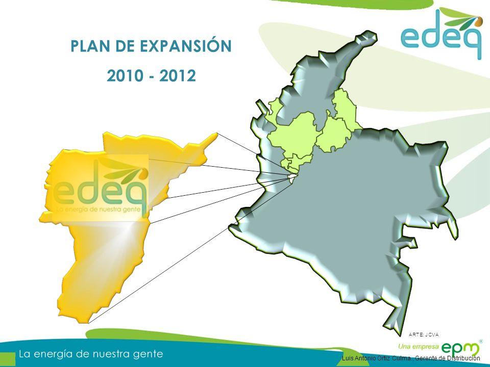 PLAN DE EXPANSIÓN 2010 - 2012 Luis Antonio Ortiz Culma., Gerente de Distribución