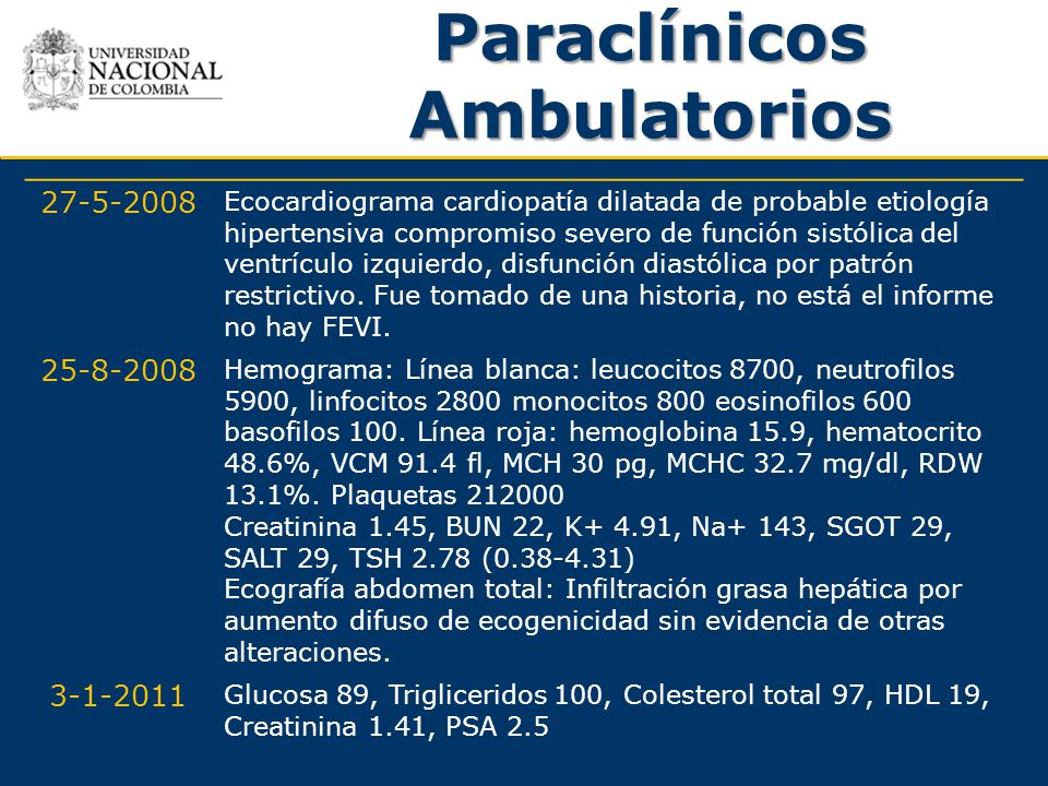 Paraclínicos Ambulatorios