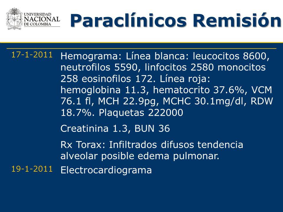 Paraclínicos Remisión