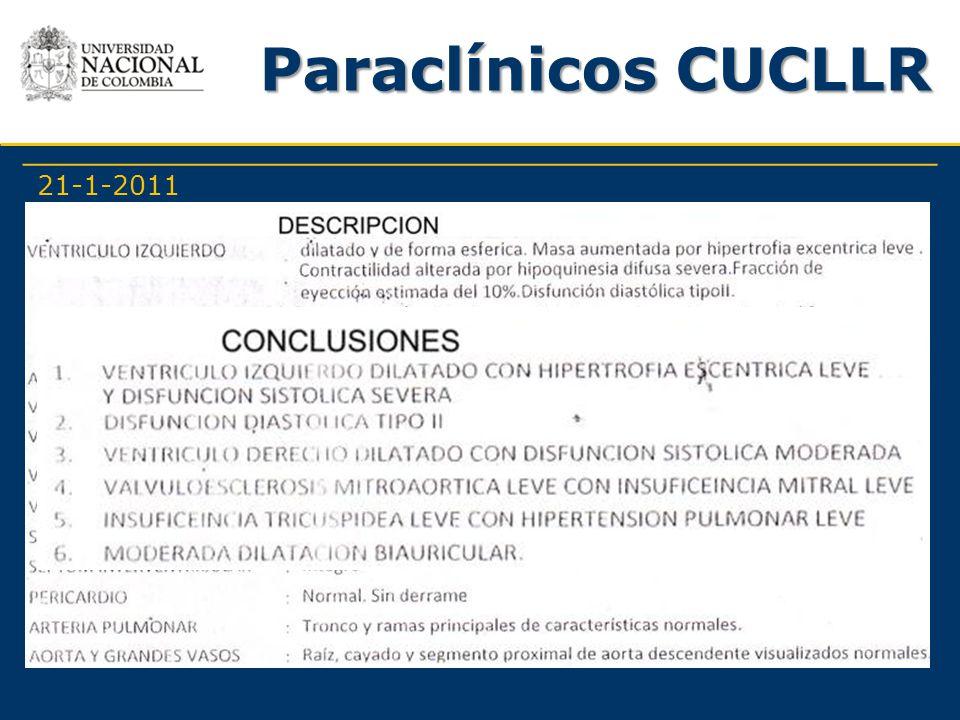 Paraclínicos CUCLLR 21-1-2011 -Farmacológicos -Quirúrgicos: No refiere