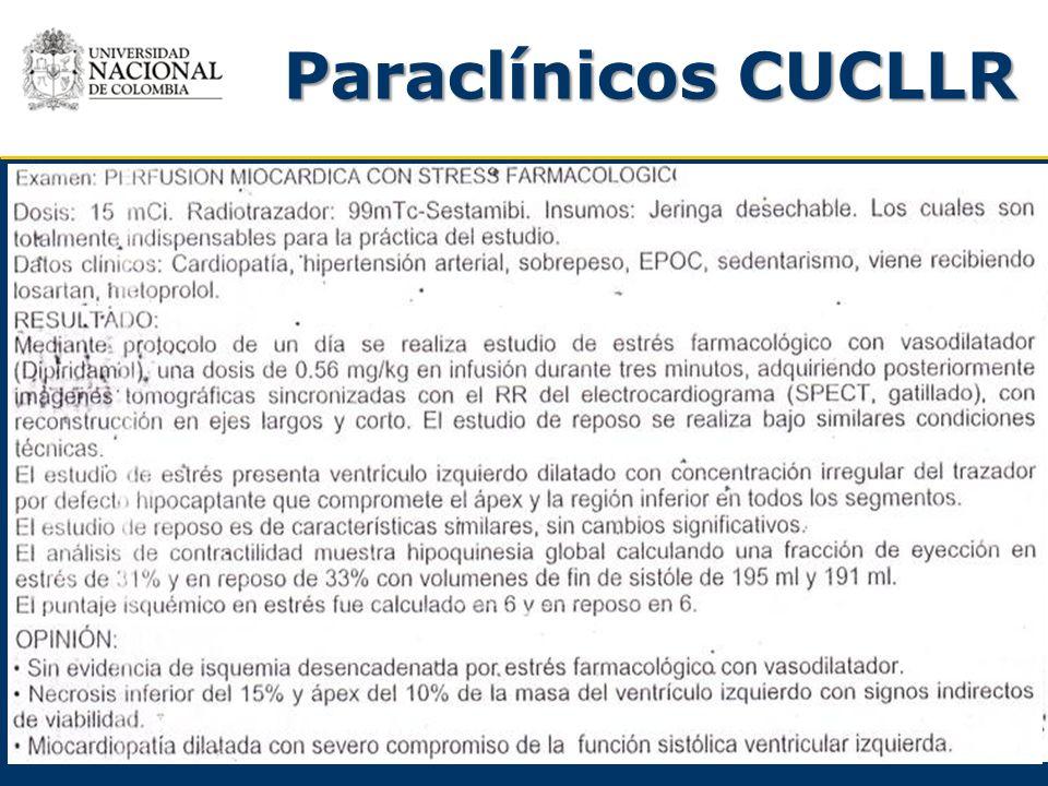 Paraclínicos CUCLLR Perfusión miocárdica 1-2-2011 -Farmacológicos
